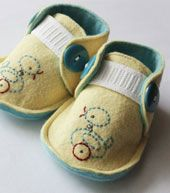 i love these, but jurry's still out about babies wearing shoes :)