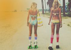 #Rollerskating at the beach - this pastime never goes out of style!