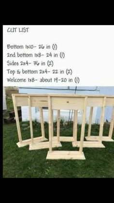One day I'll build it Diy With Pallets, Front Porch Flowers, Diy Home Decor, Porch Welcome Sign, Wooden Projects, Wooden Crafts, Outdoor Projects, Diy Projects To Try, Craft Projects