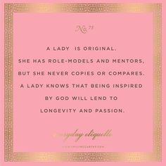Everyday Etiquette // Emily McCarthy How to be a lady She's A Lady, Act Like A Lady, Vintage Modern, Mode Vintage, Southern Belle Secrets, Southern Charm, Southern Hospitality, Southern Comfort, Lady Rules