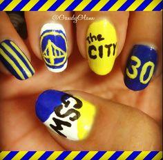 Golden State Warriors Nails