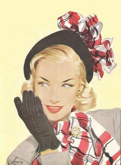 50's Fashion Illustration. Shared by http://www.bookcoverideas.com via www.fashion.net