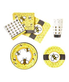 Look at this Buzz Baby Shower Tableware Set on #zulily today!