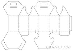 Hexagonal carton gift packaging with handles. Vector by cartonus