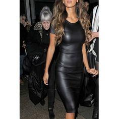 USD12.99Sexy O Neck Short Sleeve Sheath Knee Length Black Polyester Dress