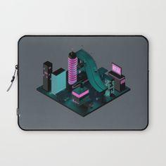 Nippon 2061 by Rickard Arvius #rickardarvius #3d #cinema4d #c4d #digitalart #visualart #cgi #render #city #japan #nippon #future #futuristic #scifi #neon #architecture #artprint #illustration #isometric #lowpoly #polygonart #skyscrapers #laptopsleeve #fashion #society6