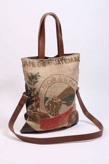 Lost Property Of London Hessian Tote - made from an old coffee bag