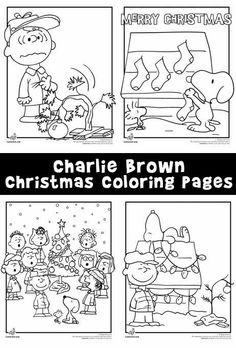 Charlie Brown Christmas Coloring Pages With The Peanuts Gang - Charlie-brown-christmas-coloring-page