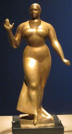 Walking Woman', bronze sculpture by Gaston Lachaise, - Google Search
