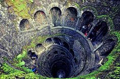 The inverted tower in Sintra, Portugal - Sintra as a whole looks really interesting too.  Definitely one to add to the future holiday destination list!