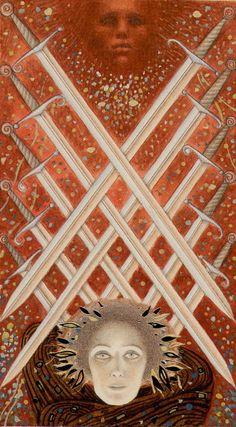 Golden Klimt deck- 10 Swords