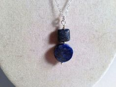 Hey, I found this really awesome Etsy listing at https://www.etsy.com/listing/115328708/navy-blue-lapis-necklace-lapis-lazuli