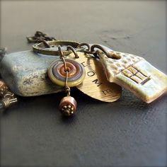 mixed media pendant