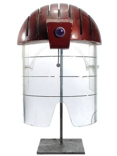 One Of A Kind Movie Prop Space Helmet. | From a unique collection of antique and modern models and miniatures at http://www.1stdibs.com/furniture/more-furniture-collectibles/models-miniatures/