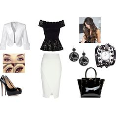 """Black and white 3"" by balsamoirene on Polyvore"
