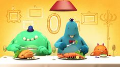 Ever wondered how a monster should behave during dinner? Well look no further, table manners gives you simple advice on the correct table etiquette for our shadow dwelling friends. Created by o-motion  https://o-motion.co.uk