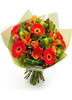 Mixed Flowers Bouquet wif Gerberas, Tiger Lilies, Roses n Orchids Flower Bouquet Wedding, Rose Bouquet, Roses Only, Anniversary Flowers, Fresh Flower Delivery, Different Flowers, Fresh Flowers, Flower Arrangements, Orchids