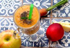 Smoothie Energia Cantaloupe, Smoothies, Detox, Pudding, Fruit, Ethnic Recipes, Desserts, Food, Drinks