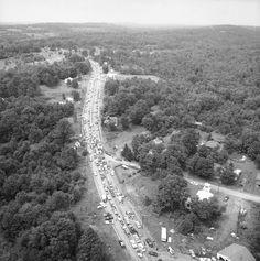 19 Photos Of Just How Crazy It Got At Woodstock: Roads backed up for 10 miles and the New York State Thruway was closed for the duration of the event, creating the worst traffic jam in the nation's history.