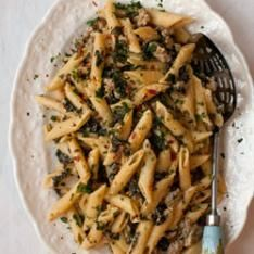 http://www.saveur.com/article/recipes/gemelli-with-roasted-garlic-and-cauliflower