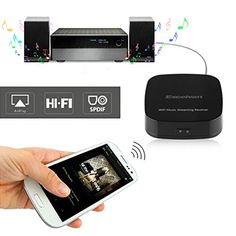 Excelvan M1 WIFI Audio HIFI Music Streaming Receiver Adapter Dongle For Home Stereo Portable Speakers From IOS Android Mac Smartphone Tablet Ipad Iphone Windows PC AirMusic AirPlay WIFI DLNA Qplay Music Shipped From US ** For more information, visit image link. (Note:Amazon affiliate link) #HomeTheaterSystem