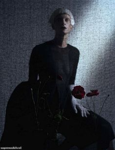 Kristen McMenamy in 'Black and Roses' - Photographed by Tim Walker (Italia October 2012)