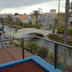 Architect Glenn Irani's house in the Venice Canals: view from the master balcony