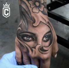 Stunning hand tattoo by Bryan Alfaro! ---------------------------------------------------------------- Certified Tattoo Studios 1559 S. Broadway Denver, CO 80210 Thinking about your next tattoo? Give us a call at or email to set up an appointment. Skull Hand Tattoo, Hand Tats, Arm Tattoo, Chicano Tattoos Sleeve, Sexy Tattoos, Body Art Tattoos, Music Wrist Tattoos, Wrist Tattoos For Guys, Tattoo Design For Hand