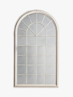 Fura Outdoor Garden Wall Window Style Arched Mirror, 131 x 75cm at John Lewis & Partners