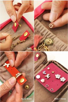 DIY Idea: key features for jewelry organizer using foam sheets  MochiThings.com: Cosmetic & Jewelry Pouch