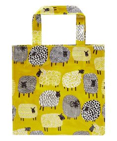 This Dotty Sheep Coated Canvas Mini Tote Bag is perfect! #zulilyfinds