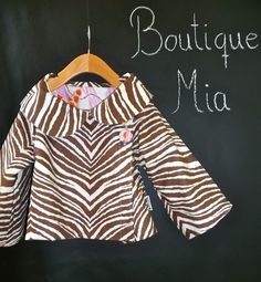 Reversible JACKET  Tanya Whelan  Zebra  Pick the by BoutiqueMia, $68.00