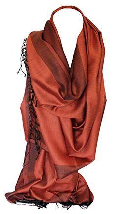 Silk Two Sided Reversible Two Tone Wrap Scarf Stole Shawl Head Scarves (Burnt Orange & Black) Bullahshah Green Parka Coat, Orange Fashion, Burnt Orange, Amazing Photography, Scarf Wrap, Blue Grey, Shawl, Scarves, Mood