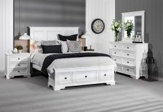 Bedroom Suites - Huge Range, Super Savings Super Amart is so utterly divine, and in my dream bedroom it will stand out and shine White Bedroom Suite, Queen Bedroom Suite, King Size Bedroom Sets, Wood Bedroom Sets, King Bedroom, Bedroom Suites, Dream Bedroom, Master Bedroom, Construction Bedroom