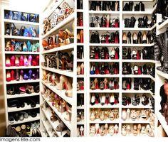 Khloe kardashians shoe closet !! <3