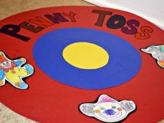 Can toss carnival sign | Penny Toss - This was probably the easiest game to put together and ...