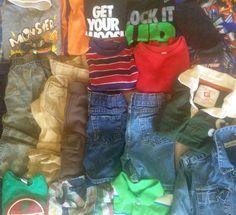 Big Summer Boys Clothes Lot 20 Items Sz 4 4T 5 Jeans Shirts Levi's Shorts I Tak | eBay