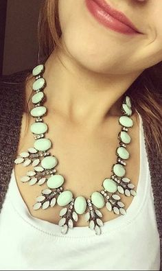 Elegance Statement #Necklace In Mint 24,90  #happinessbtq