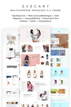 Evecart - #amazing  Fashion Store OpenCart #template #67571