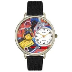 Mystery Lover Black Skin Leather And Silvertone Watch #U0460002 - http://www.artistic-watches.com/2013/02/17/mystery-lover-black-skin-leather-and-silvertone-watch-u0460002/