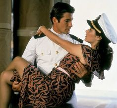 "Richard Gere and Debra Winger in ""An Officer and a Gentleman"" One of my favorite movies. Oh how I used to long to be Debra Winger. Love Movie, Movie Stars, Movie Tv, Cindy Crawford, 80s Movies, Great Movies, 1980s Films, Film Scene, Yasmine Galenorn"