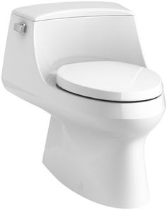 KOHLER K-3722-0 San Raphael One-Piece Elongated 1.28 GPF Toilet with Left-Hand Trip Lever, White