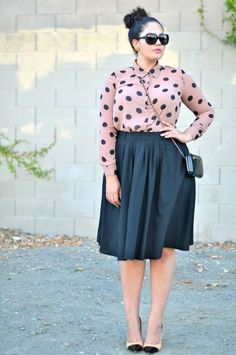 Girl With Curves - Plus size fashion I want to wear this one day! Curvy Girl Fashion, Modest Fashion, Fashion Outfits, Feminine Fashion, Ladies Fashion, Womens Fashion, Fashion Fashion, Trendy Fashion, Fashion Online
