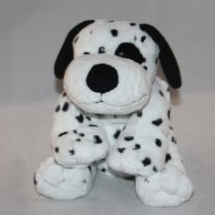 """2007 Ty Pluffies """"Dotters"""" the Dalmatian Puppy Dog Plush"""