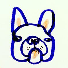 French bulldog #illustration by Marie Åhfeldt, Mås Illustra. www.masillustra.se