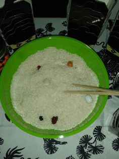 Lego ninjago birthday party game find objects in rice using chop sticks