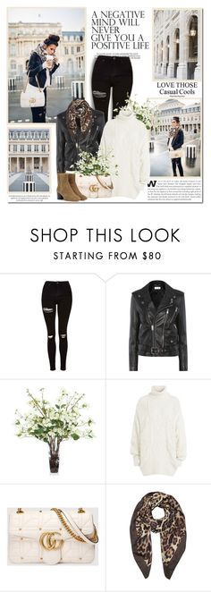 """A negative mind will never give a positive life!!"" by lilly-2711 ❤ liked on Polyvore featuring Topshop, Yves Saint Laurent, Lux-Art Silks, Faith Connexion, Gucci, Forzieri and Isabel Marant"