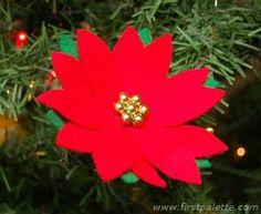 Poinsettia Ornament craft