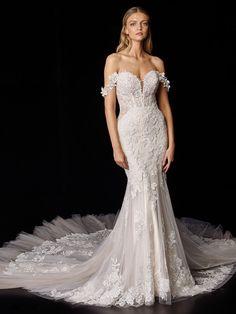 Peony 2021 Enzoani | Enzoani Lace Wedding Dress, Couture Wedding Gowns, Wedding Dress Shopping, Dream Wedding Dresses, Bridal Gowns, Bridal Gallery, Blush Bridal, Olympia, Dress Collection