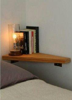 Space saver. Corner shelf